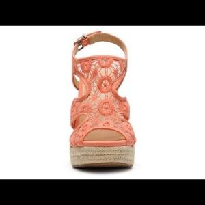 Lucky brand coral ranette wedges